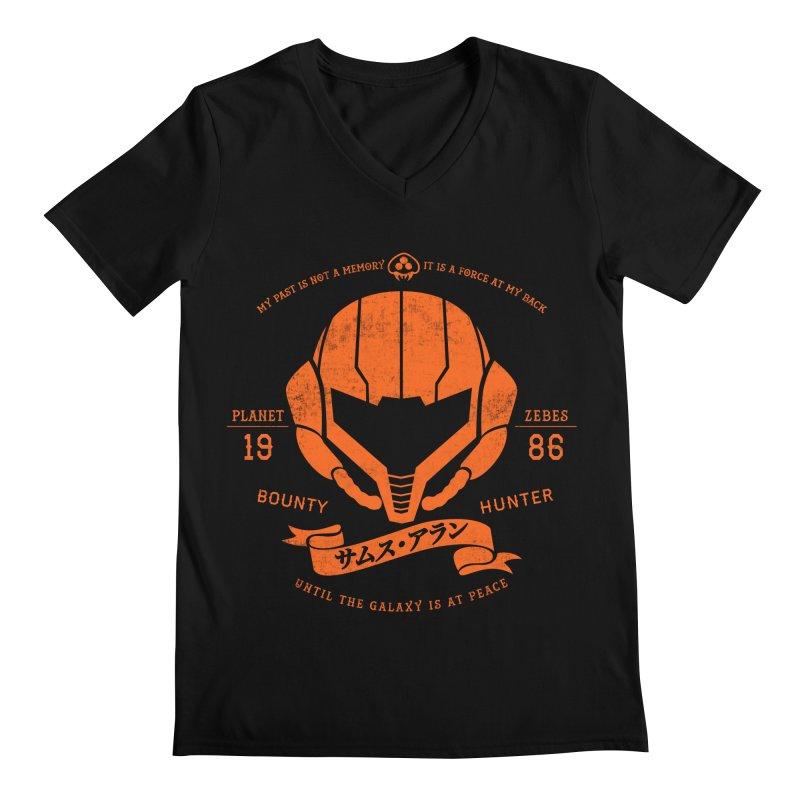 Orange Armor Men's V-Neck by machmigo1's Artist Shop
