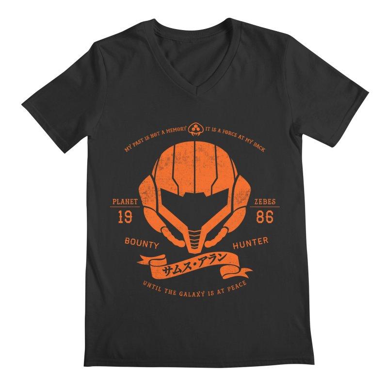 Orange Armor Men's Regular V-Neck by machmigo1's Artist Shop