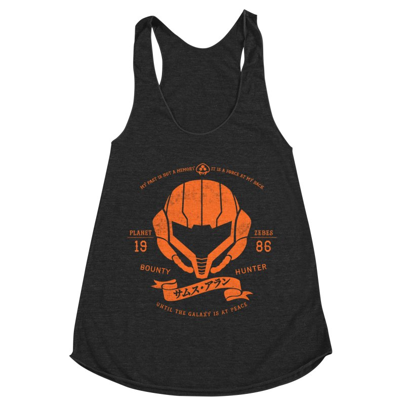 Orange Armor Women's Racerback Triblend Tank by machmigo1's Artist Shop