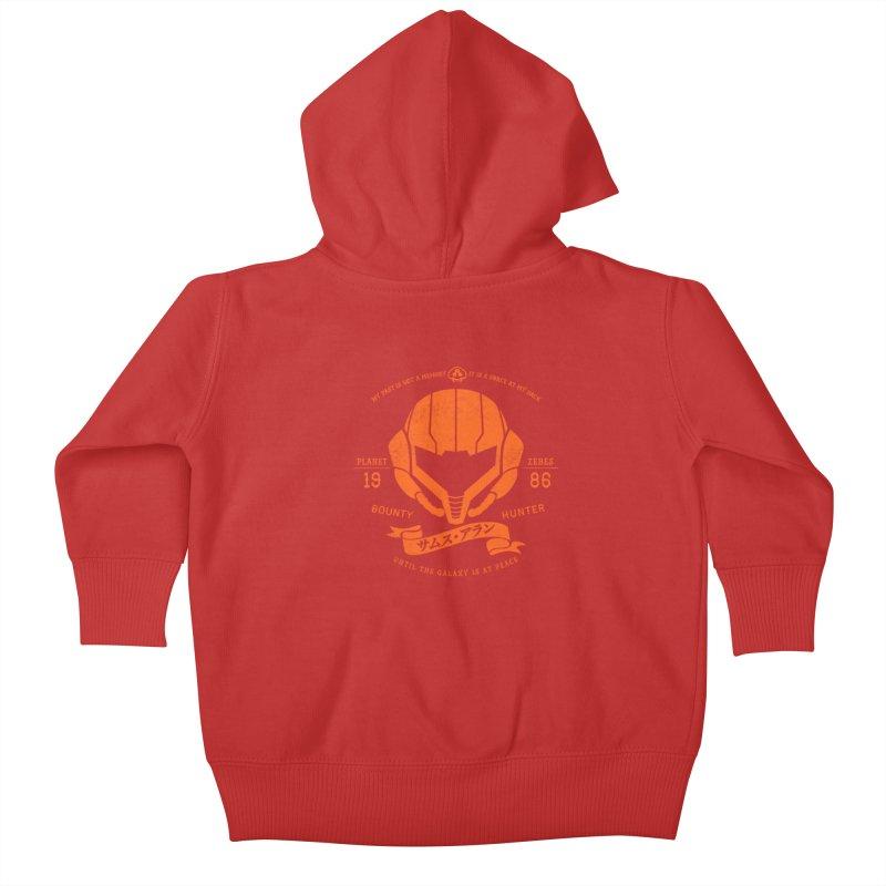 Orange Armor Kids Baby Zip-Up Hoody by machmigo1's Artist Shop