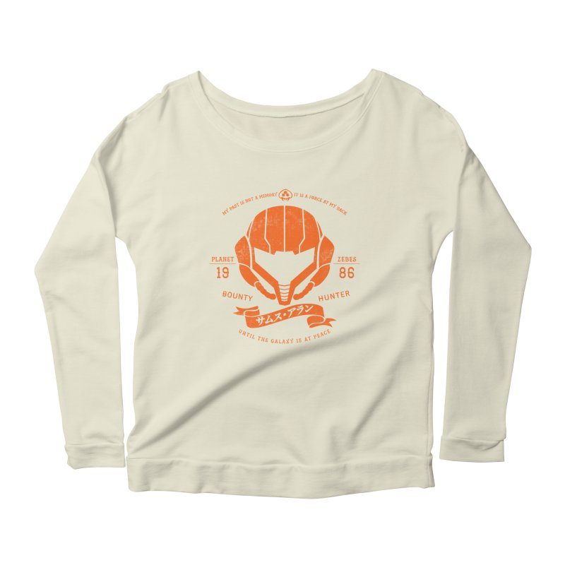 Orange Armor Women's Scoop Neck Longsleeve T-Shirt by machmigo1's Artist Shop
