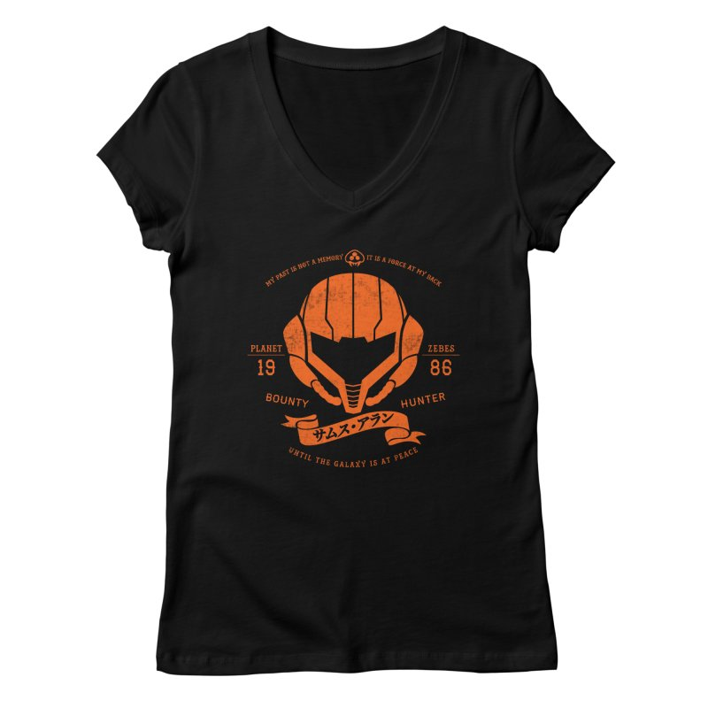 Orange Armor Women's V-Neck by machmigo1's Artist Shop