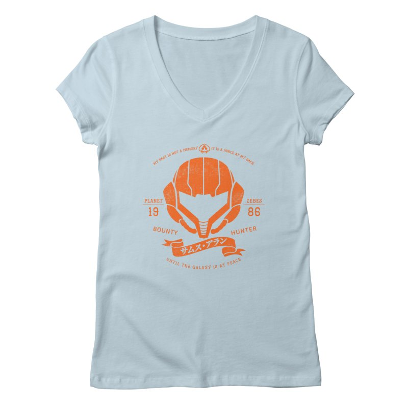 Orange Armor Women's V-Neck by machmigo1's Artist Shop