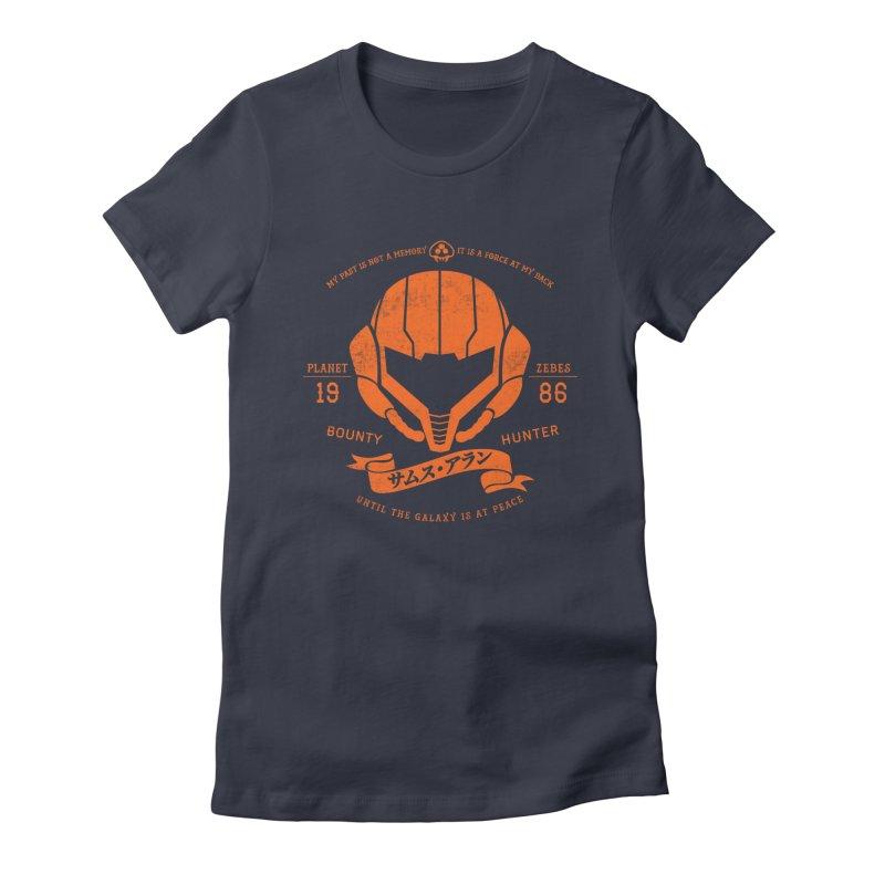 Orange Armor Women's Fitted T-Shirt by machmigo1's Artist Shop