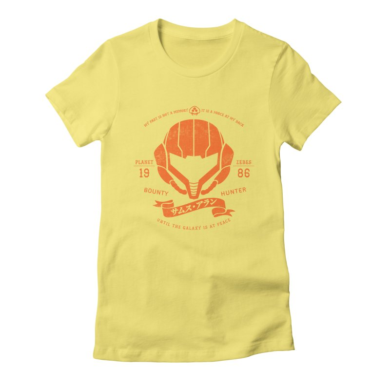 Orange Armor Women's Fitted T-Shirt by machmigo1's Artist Shop