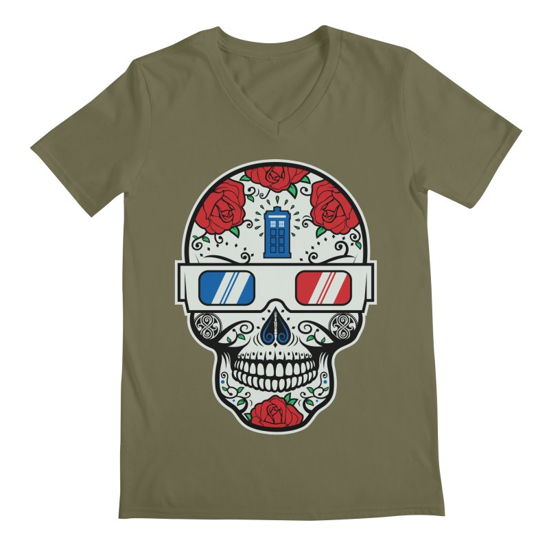 De Las Diez Men's Regular V-Neck by machmigo1's Artist Shop