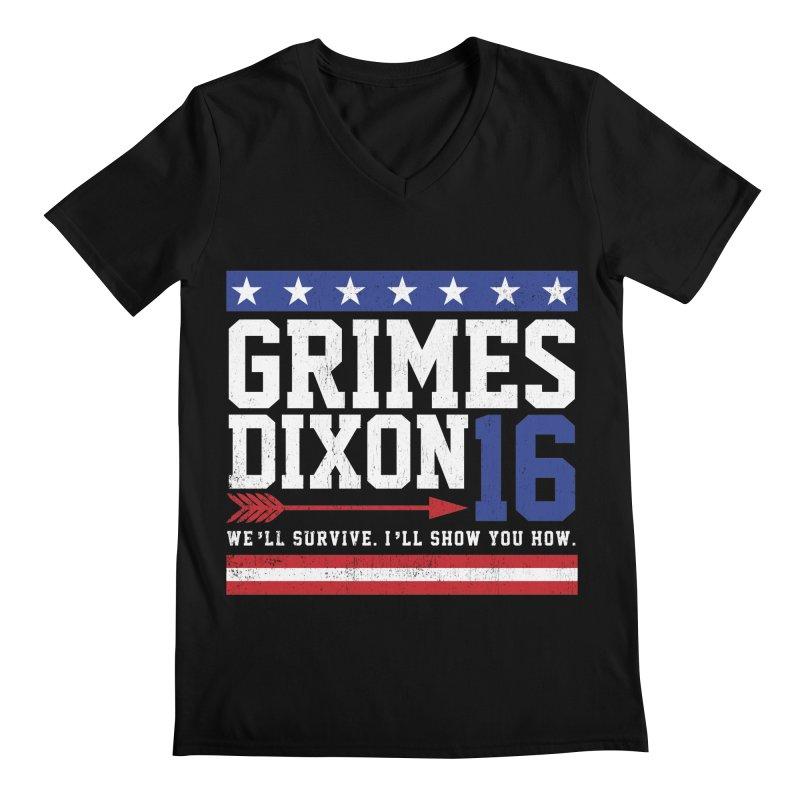Grimes 2016 Men's V-Neck by machmigo1's Artist Shop