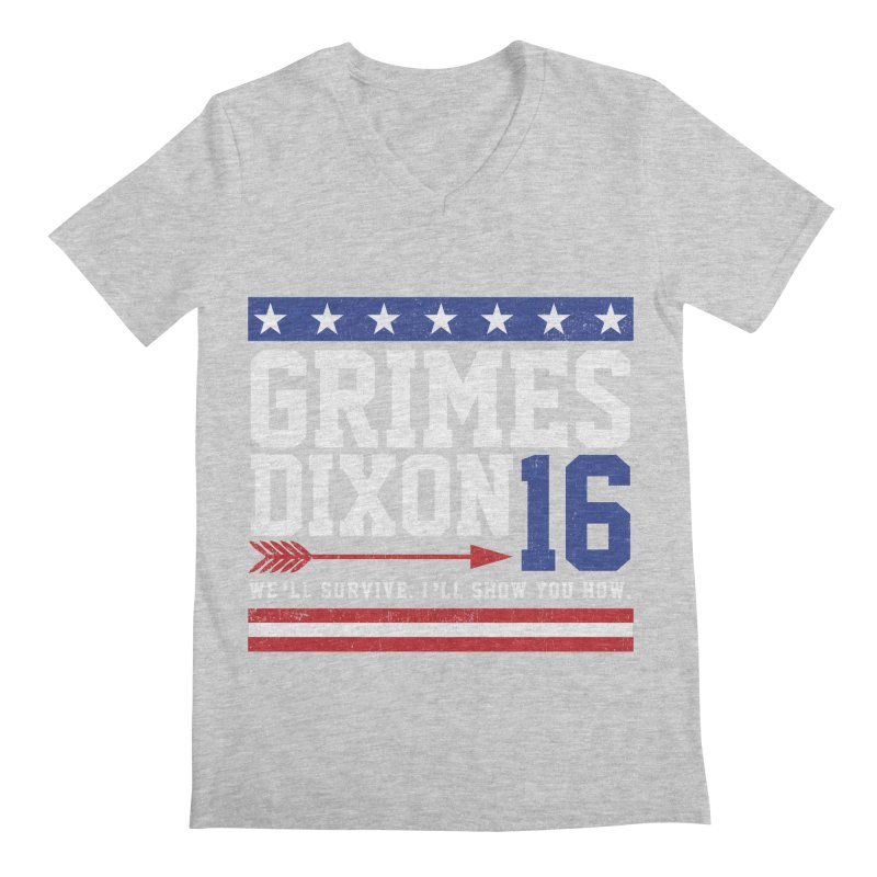 Grimes 2016 Men's Regular V-Neck by machmigo1's Artist Shop