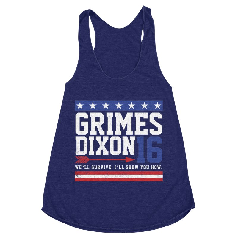 Grimes 2016 Women's Racerback Triblend Tank by machmigo1's Artist Shop