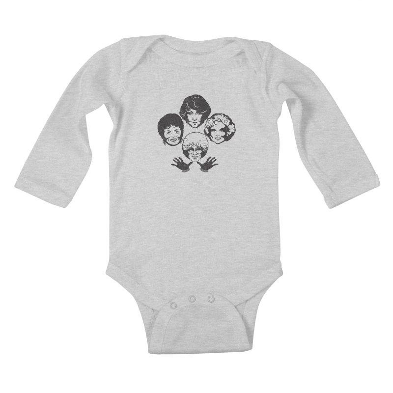 Miami Royalty Kids Baby Longsleeve Bodysuit by machmigo1's Artist Shop