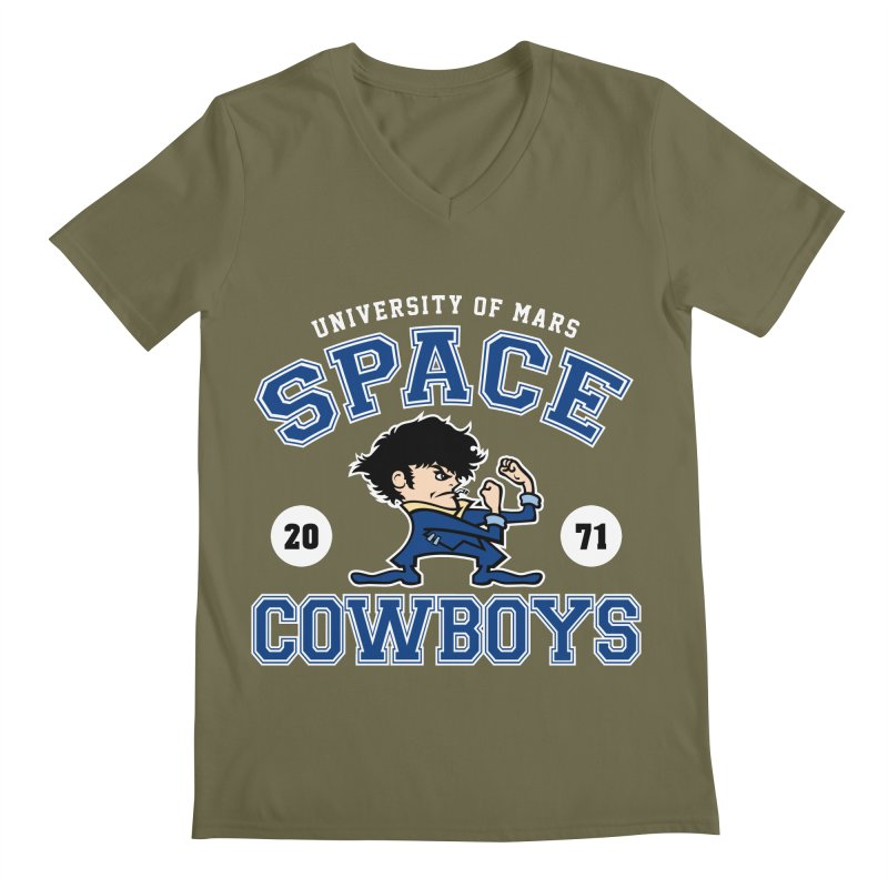 Space Cowboys Men's V-Neck by machmigo1's Artist Shop