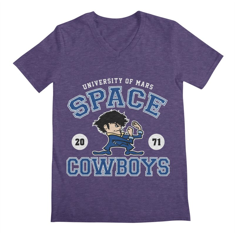 Space Cowboys Men's Regular V-Neck by machmigo1's Artist Shop