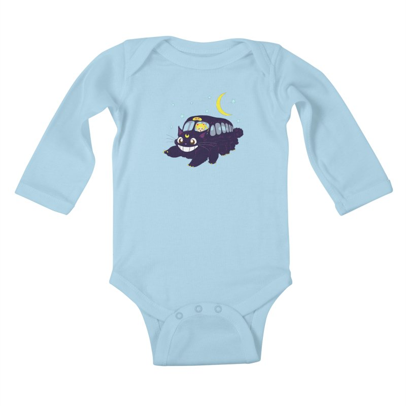 Lunar Express Kids Baby Longsleeve Bodysuit by machmigo1's Artist Shop