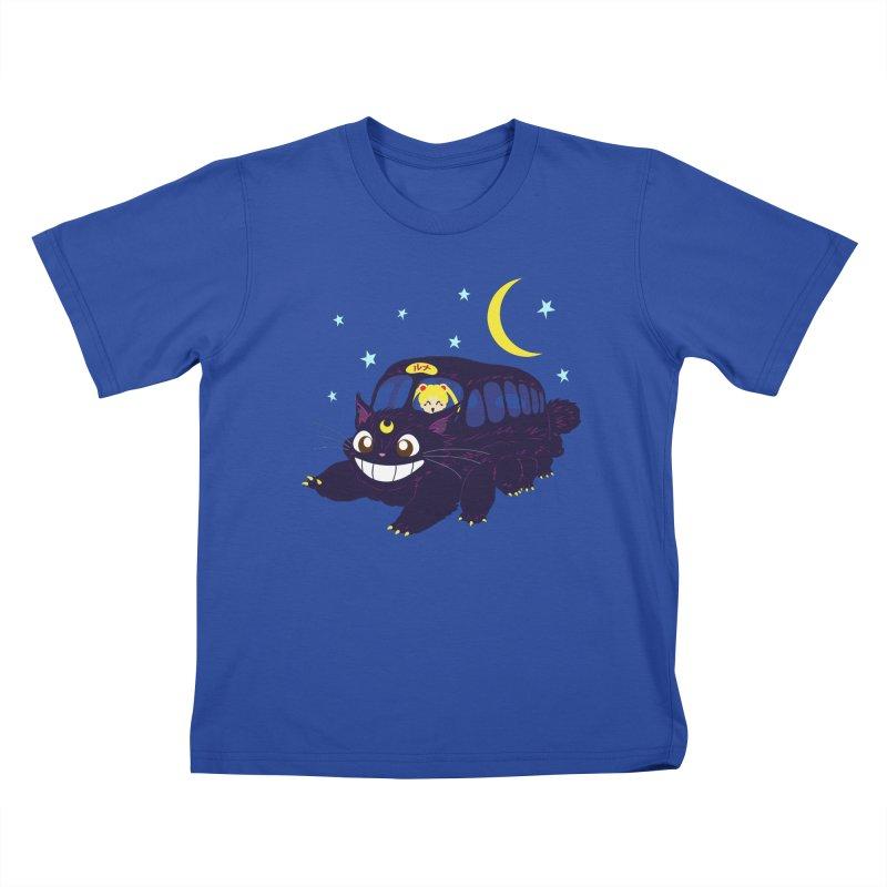 Lunar Express Kids T-Shirt by machmigo1's Artist Shop