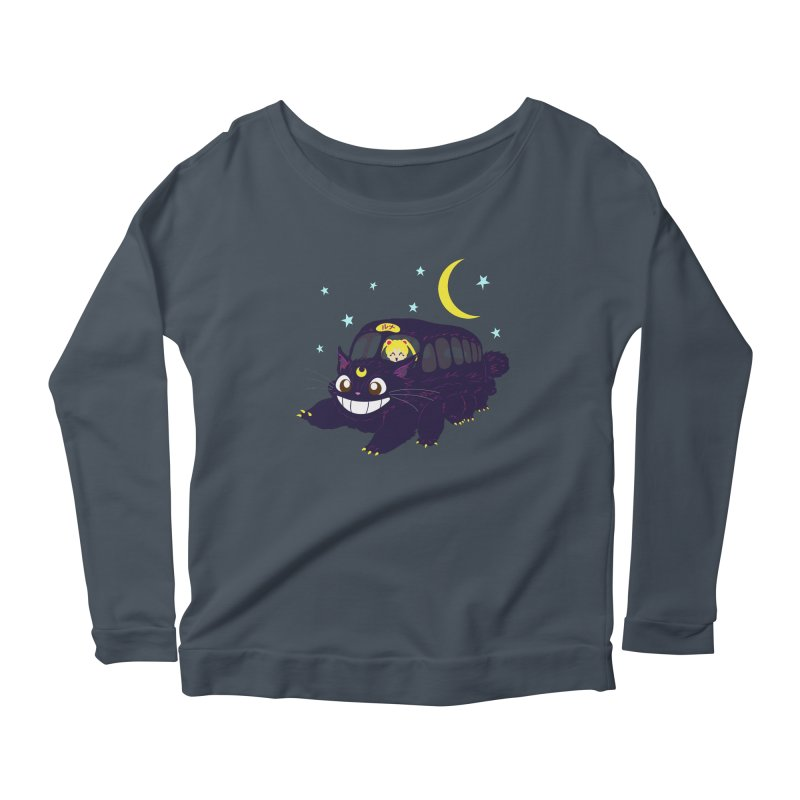 Lunar Express Women's Scoop Neck Longsleeve T-Shirt by machmigo1's Artist Shop