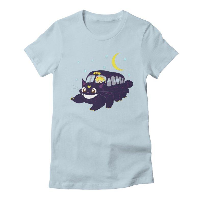 Lunar Express Women's Fitted T-Shirt by machmigo1's Artist Shop