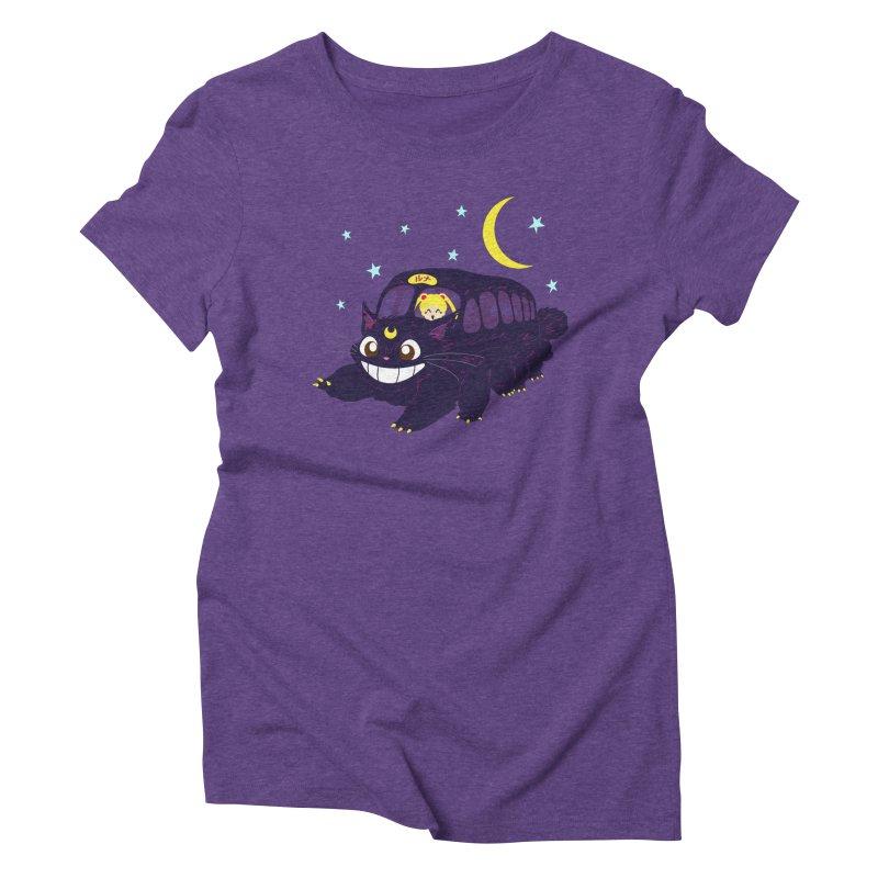 Lunar Express Women's Triblend T-Shirt by machmigo1's Artist Shop