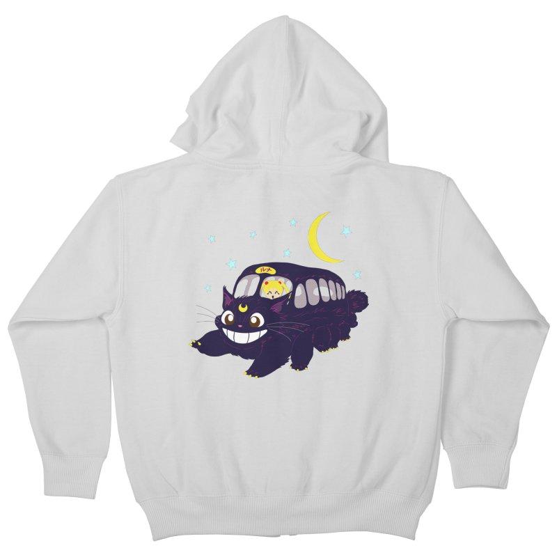 Lunar Express Kids Zip-Up Hoody by machmigo1's Artist Shop