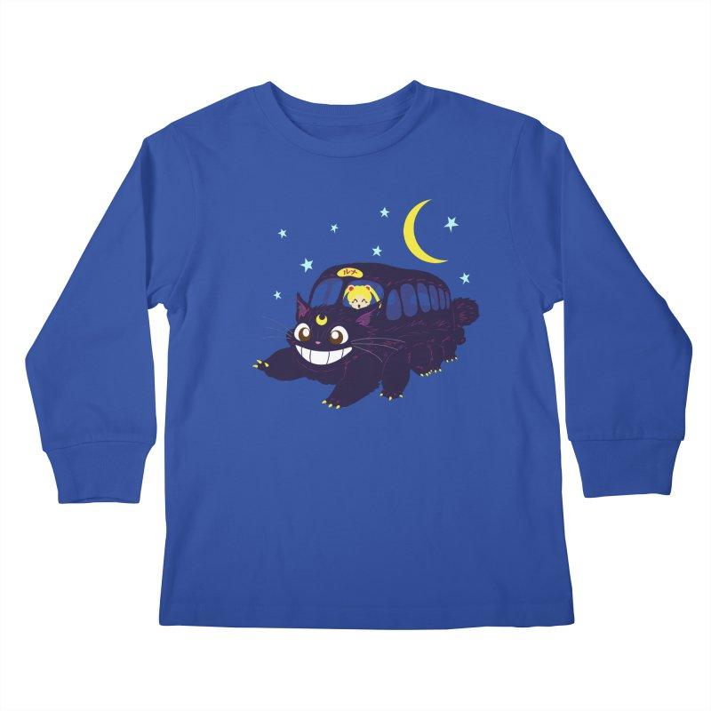 Lunar Express Kids Longsleeve T-Shirt by machmigo1's Artist Shop