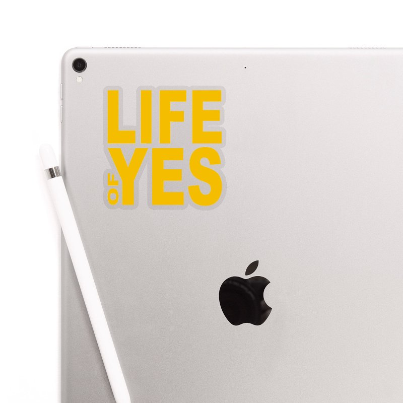 Life of Yes Accessories Sticker by Mac & Cheese Productions Store