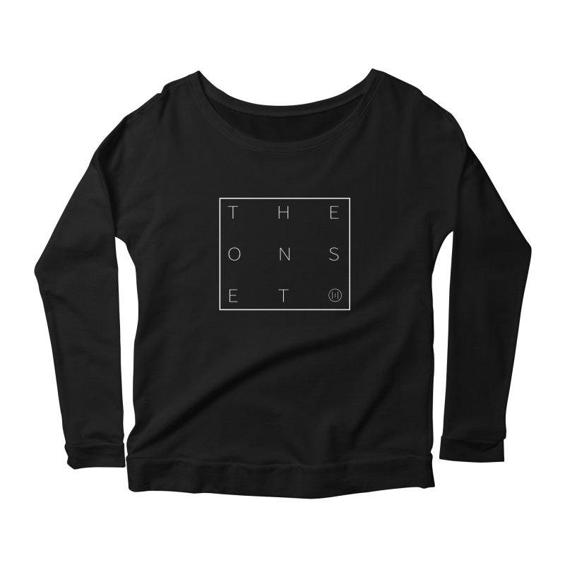The Onset | Box White Women's Scoop Neck Longsleeve T-Shirt by Macy McKinzie