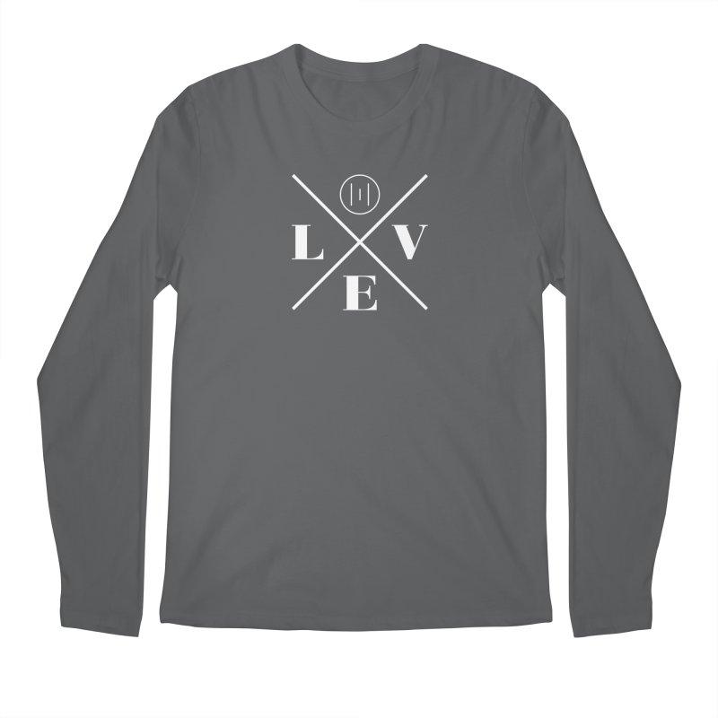 The Onset   Love White Men's Regular Longsleeve T-Shirt by Macy McKinzie