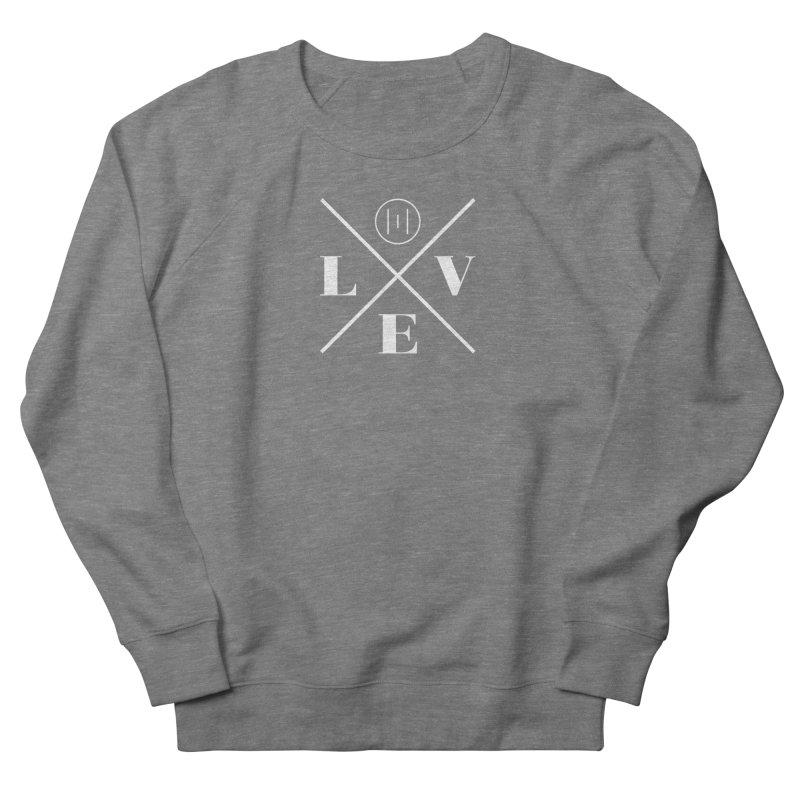The Onset | Love White Men's French Terry Sweatshirt by Macy McKinzie