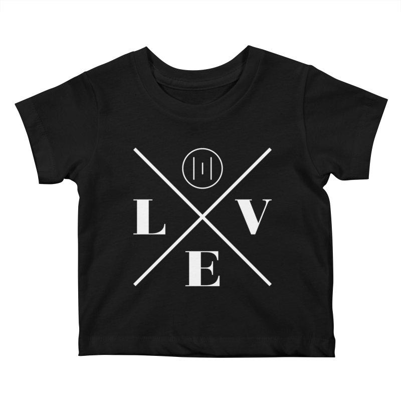 The Onset | Love White Kids Baby T-Shirt by Macy McKinzie