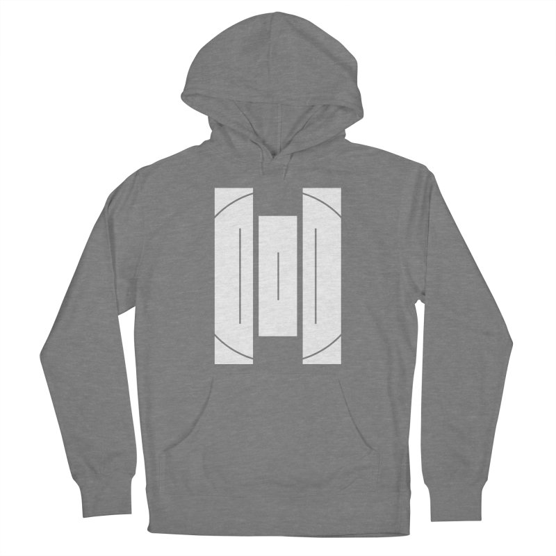 The Onset | BlackBar White Men's French Terry Pullover Hoody by Macy McKinzie