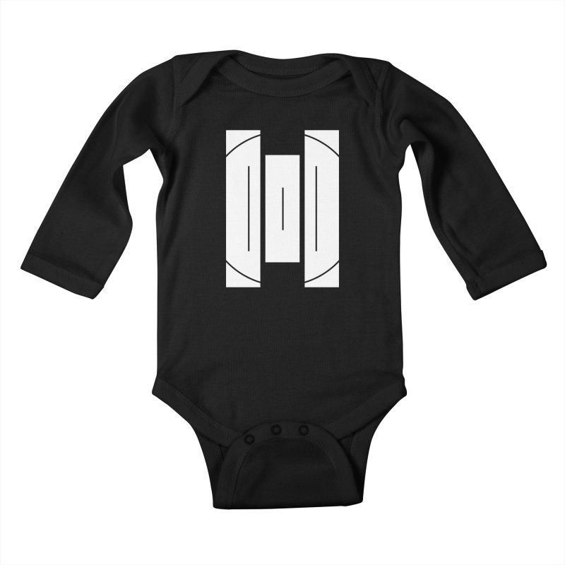 The Onset | BlackBar White Kids Baby Longsleeve Bodysuit by Macy McKinzie