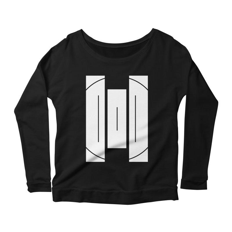 The Onset | BlackBar White Women's Scoop Neck Longsleeve T-Shirt by Macy McKinzie