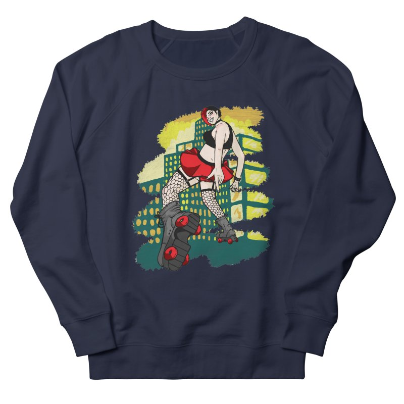 Molly likes to skate  Women's French Terry Sweatshirt by madamewolfgang's Artist Shop