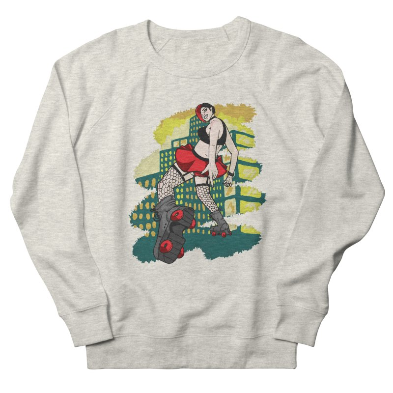 Molly likes to skate  Men's French Terry Sweatshirt by madamewolfgang's Artist Shop