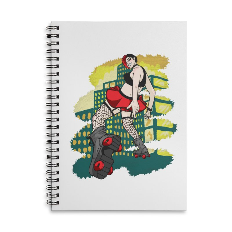 Molly likes to skate  Accessories Lined Spiral Notebook by madamewolfgang's Artist Shop