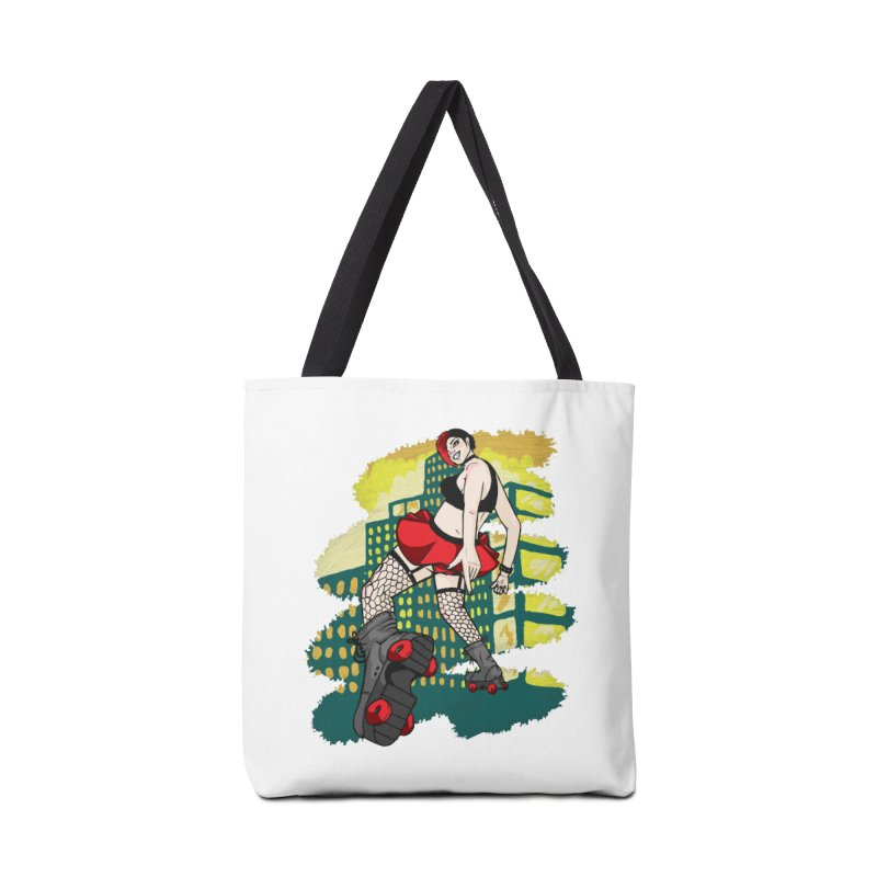 Molly likes to skate  Accessories Tote Bag Bag by madamewolfgang's Artist Shop