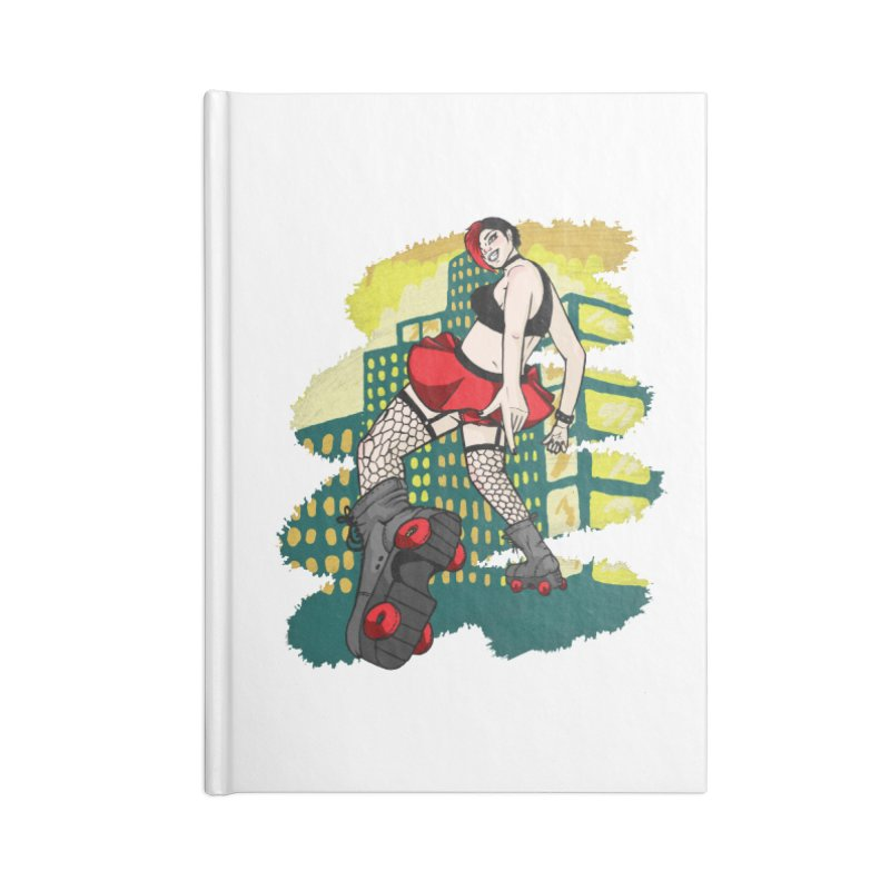 Molly likes to skate  Accessories Lined Journal Notebook by madamewolfgang's Artist Shop