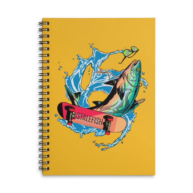 STALEFISH Accessories Lined Spiral Notebook by madamewolfgang's Artist Shop