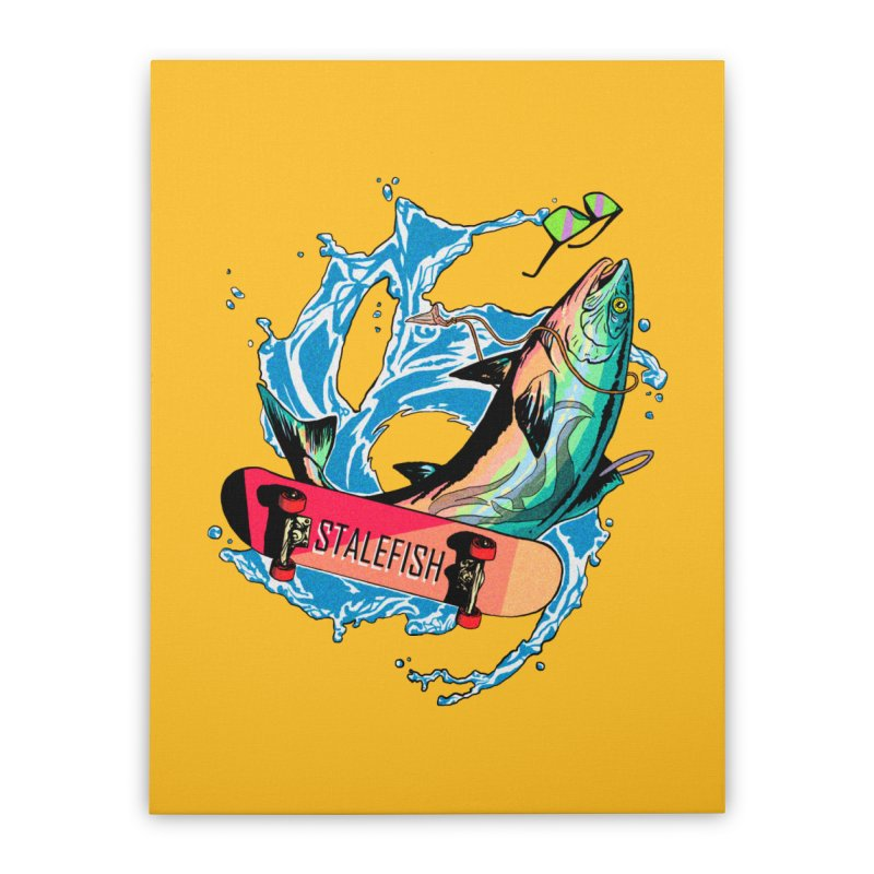 STALEFISH Home Stretched Canvas by madamewolfgang's Artist Shop