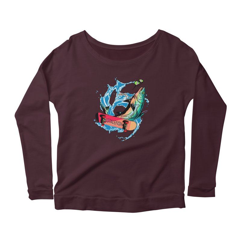STALEFISH Women's Scoop Neck Longsleeve T-Shirt by madamewolfgang's Artist Shop