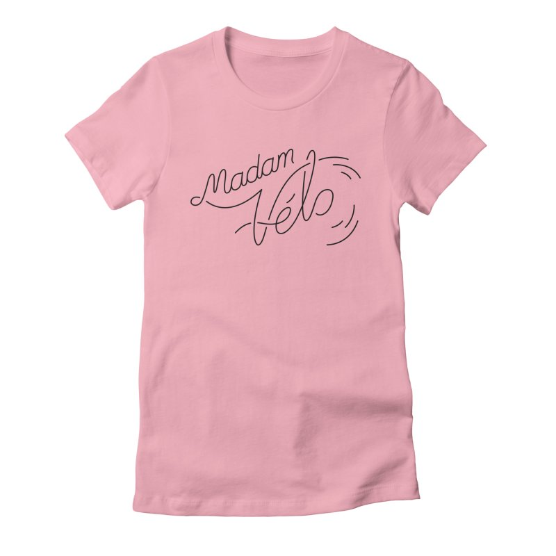 Madam Vélo Cursive Women's Fitted T-Shirt by Madam Vélo