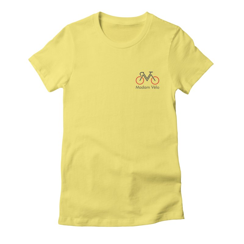 Madam Vélo logo Women's Fitted T-Shirt by Madam Vélo