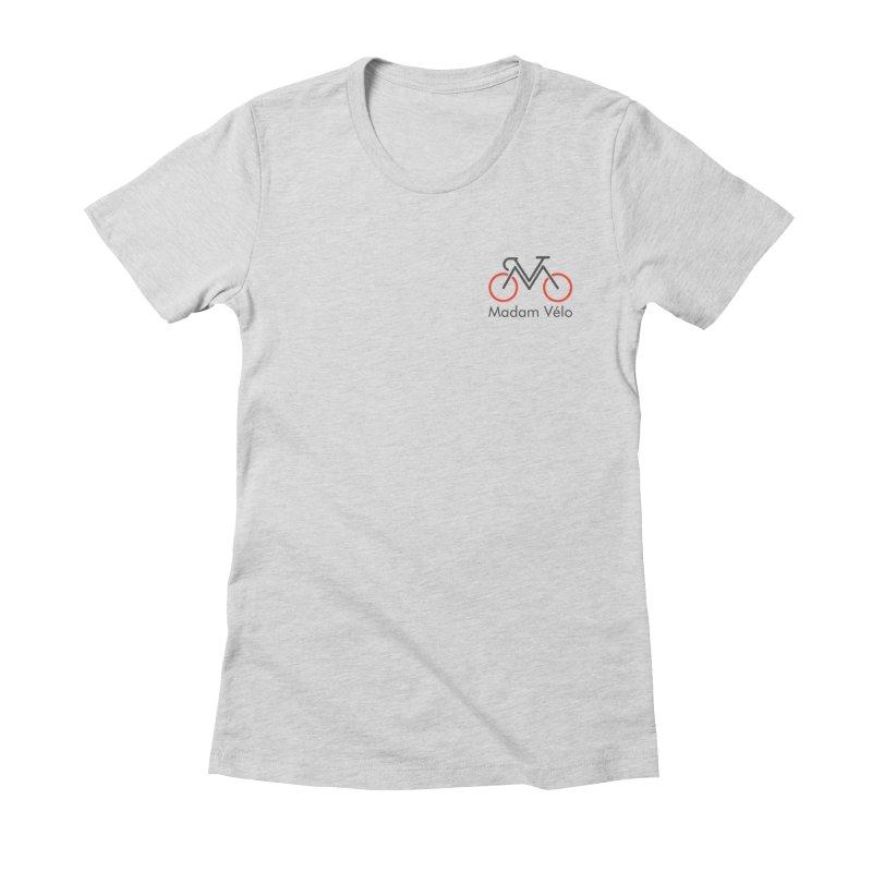 Madam Vélo logo Women's Fitted T-Shirt by Madam Vélo