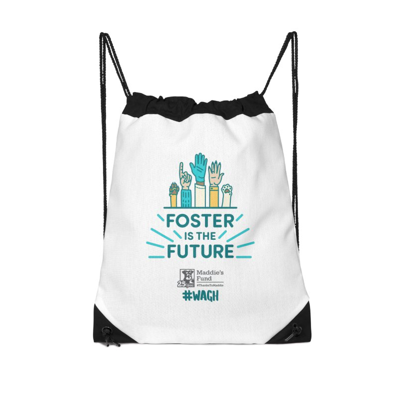 Foster is the Future Accessories Drawstring Bag Bag by Maddie Shop