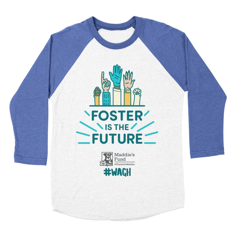 Foster is the Future Men's Baseball Triblend Longsleeve T-Shirt by Maddie Shop
