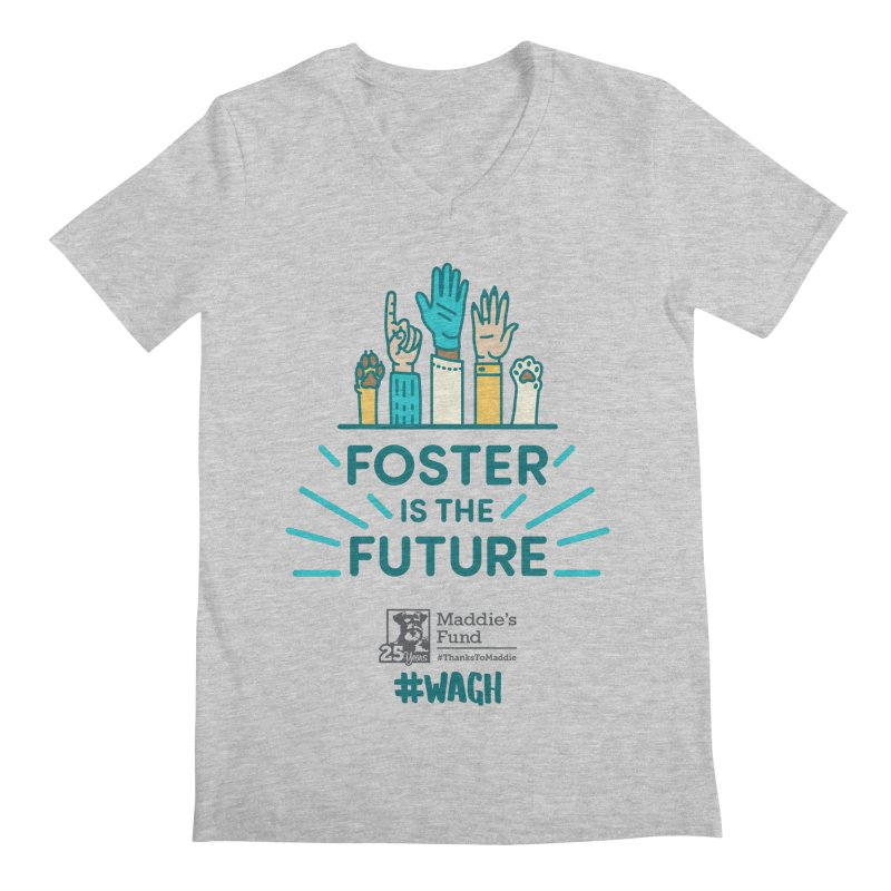 Foster is the Future Men's Regular V-Neck by Maddie Shop