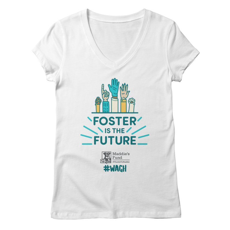 Foster is the Future Women's Regular V-Neck by Maddie Shop