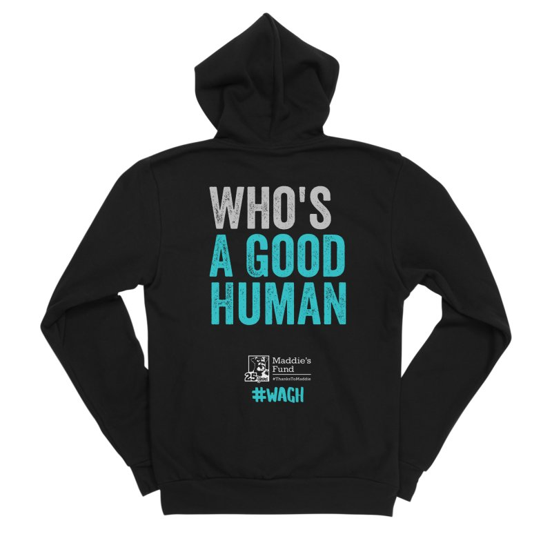 Who's a Good Human? Men's Sponge Fleece Zip-Up Hoody by Maddie Shop