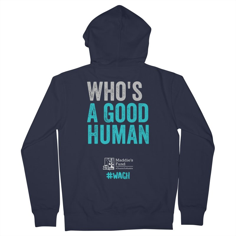 Who's a Good Human? Men's French Terry Zip-Up Hoody by Maddie Shop