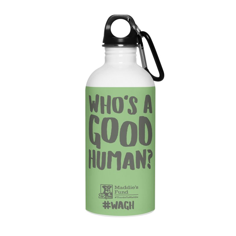 Who's a Good Human Handlettered Accessories Water Bottle by Maddie Shop