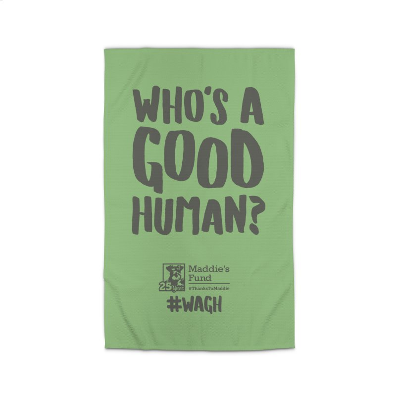 Who's a Good Human Handlettered Home Rug by Maddie Shop
